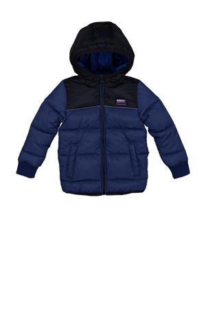 winterjas Toby donkerblauw/zwart