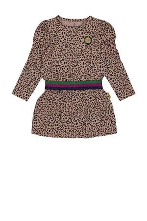 jurk Pip met panterprint zand/bruin