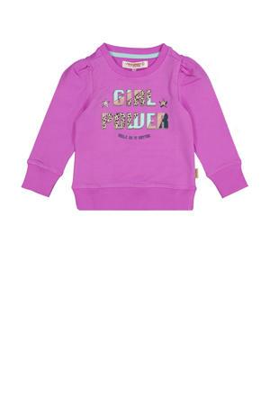 sweater Nena met printopdruk felroze