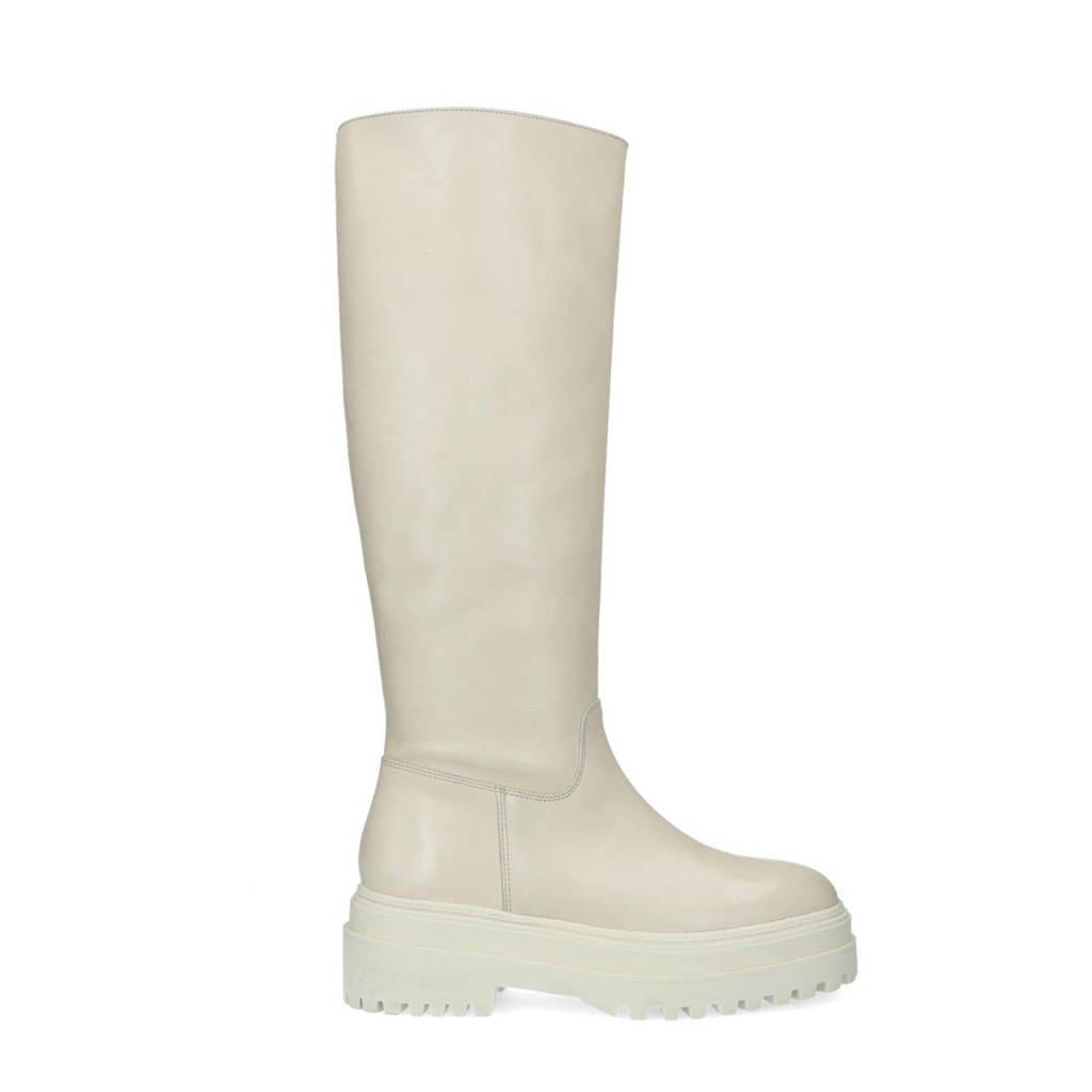 Sacha   hoge leren laarzen off white, beige/off white
