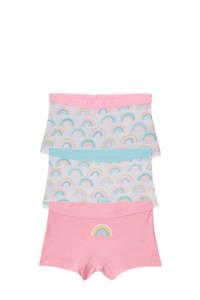 C&A Palomino short - set van 3 roze/lichtblauw, Roze
