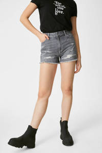 C&A Clockhouse jeans short grijs, Grijs