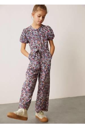 gebloemde jumpsuit lila/multicolor