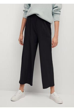 broek met textuur zwart