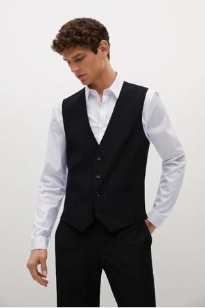 gilet van gerecycled polyester zwart