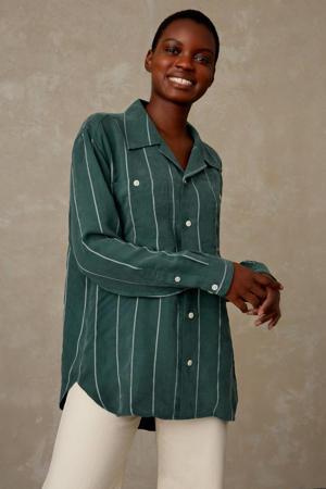 gestreepte blouse MAUD groen