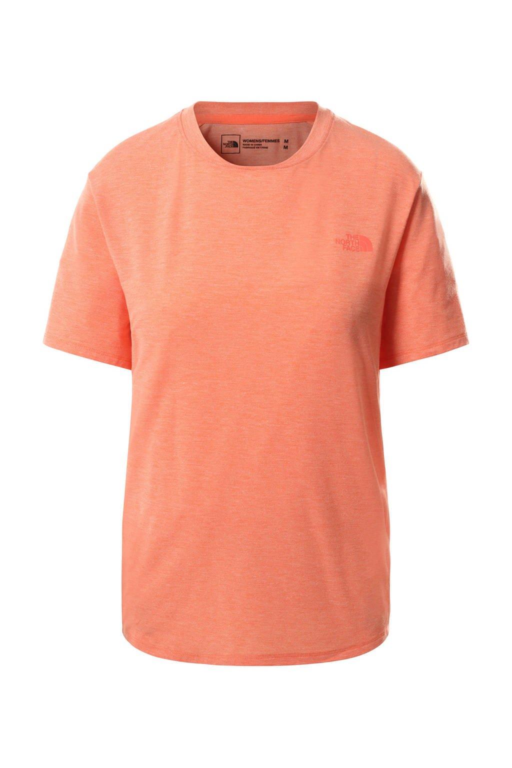 The North Face outdoor T-shirt Wander oranje, Oranje