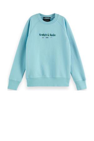 sweater van biologisch katoen zeeblauw