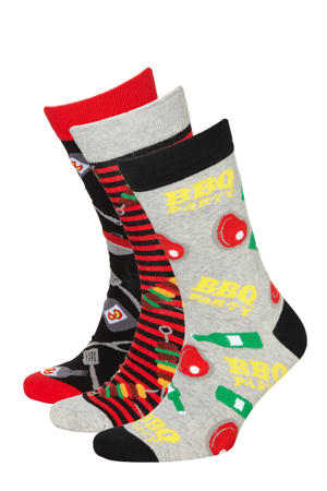 giftbox sokken - set van 3 multi