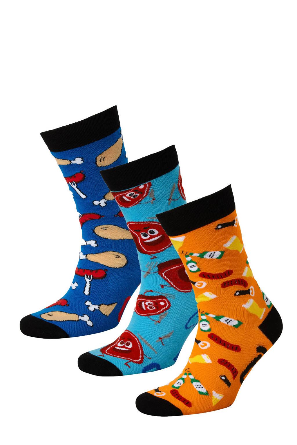 Apollo giftbox sokken - set van 3 multi, Multi