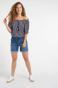 MS Mode bermuda jeans dark denim, Dark denim