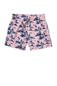 C&A Rodeo zwemshort met all over print roze/donkerblauw, Roze/donkerblauw