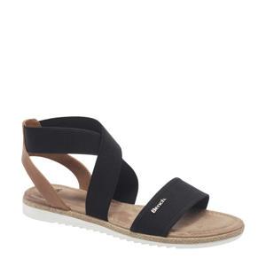 sandalen zwart/bruin