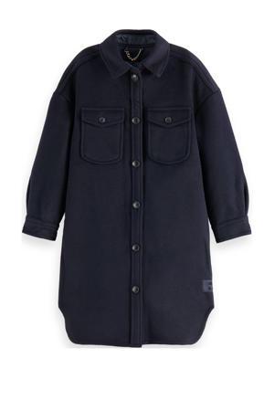 jack winter met wol donkerblauw