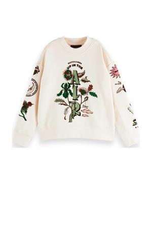 sweater met printopdruk off white
