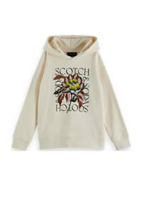 Scotch & Soda sweater met printopdruk off white, Off White