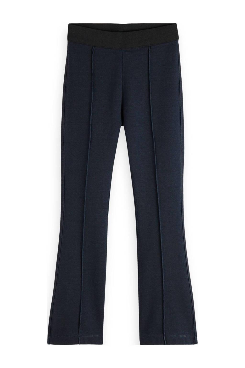 Scotch & Soda broek met krijtstreep donkerblauw, Donkerblauw
