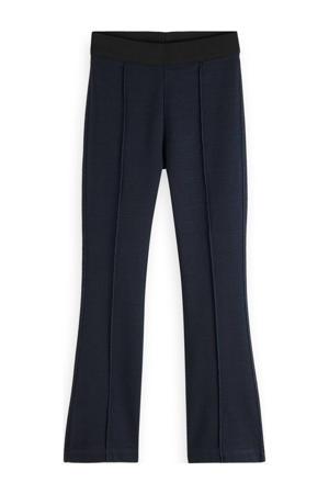 broek met krijtstreep donkerblauw