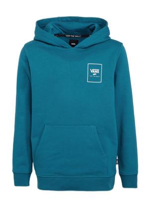 hoodie Print Box Back blauw