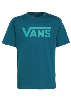 T-shirt met logo petrol