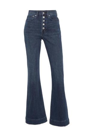 high waist flared jeans dark wash
