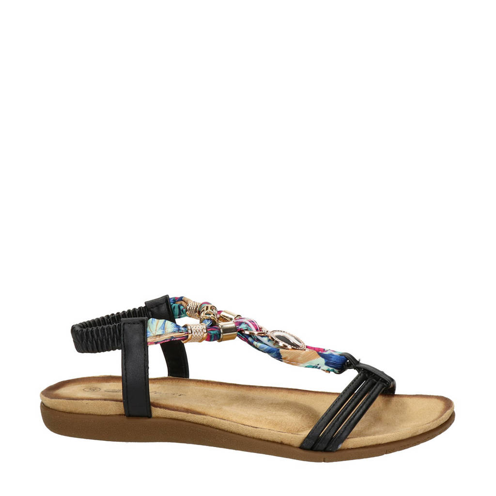 Dolcis   sandalen zwart, Zwart