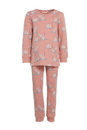 pyjama Snooze lichtroze/wit