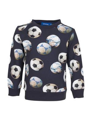 sweater Hazard met all over print donkerblauw