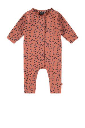 newborn baby boxpak met all over print roze/donkerblauw