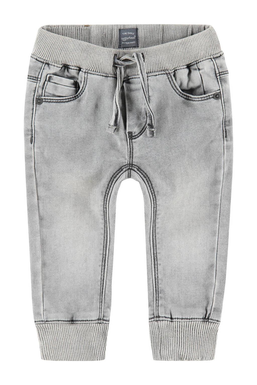 Babyface regular fit jeans grijs stonewashed, Grijs stonewashed