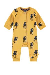Babyface newborn baby boxpak met dierenprint mosterdgeel/donkerblauw