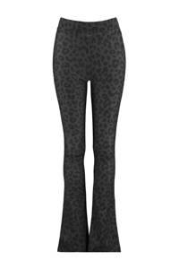 CoolCat Junior flared broek Philou met all over print antraciet/zwart, Antraciet/zwart