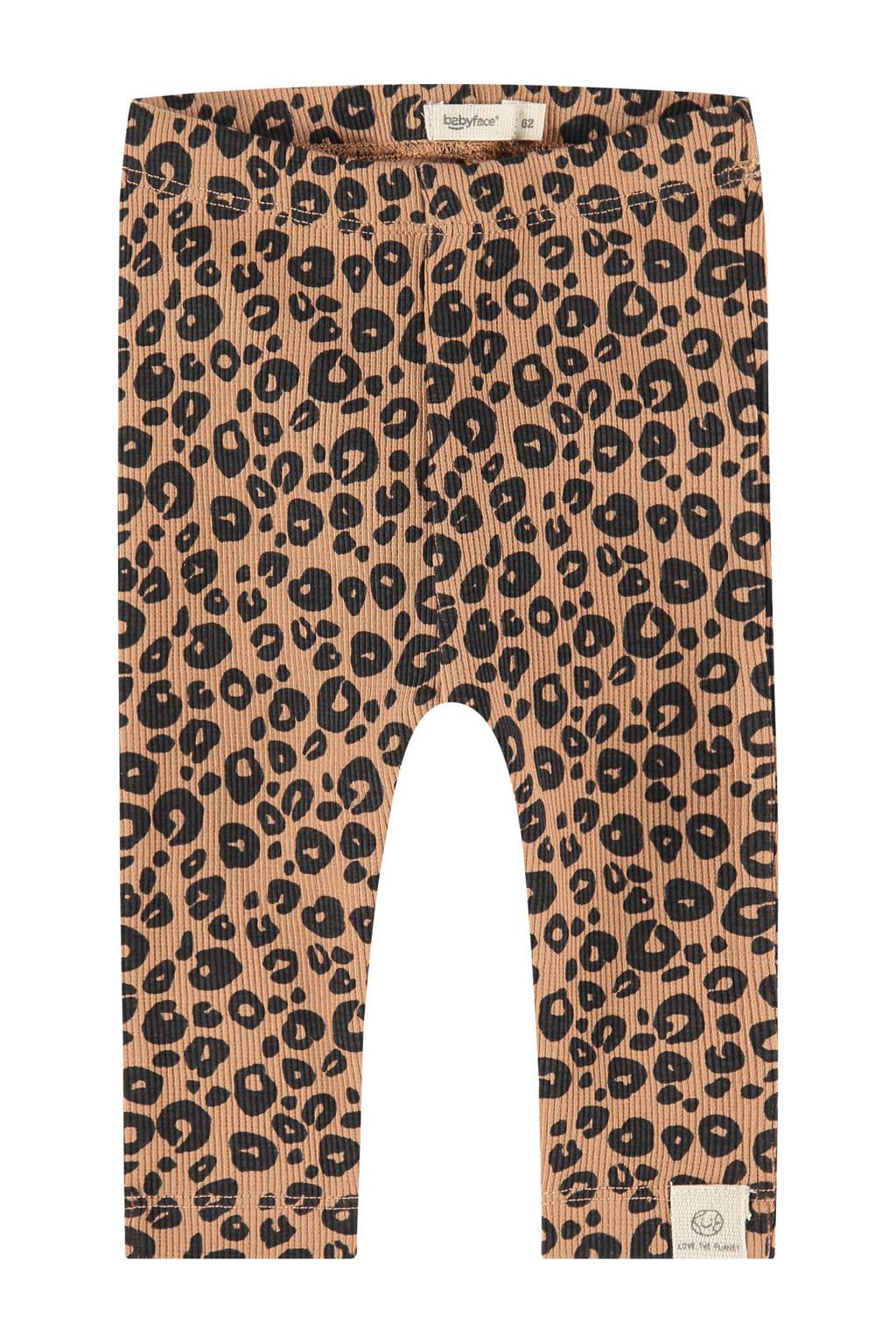 Babyface baby regular fit broek met all over print bruin/zwart, Bruin/zwart