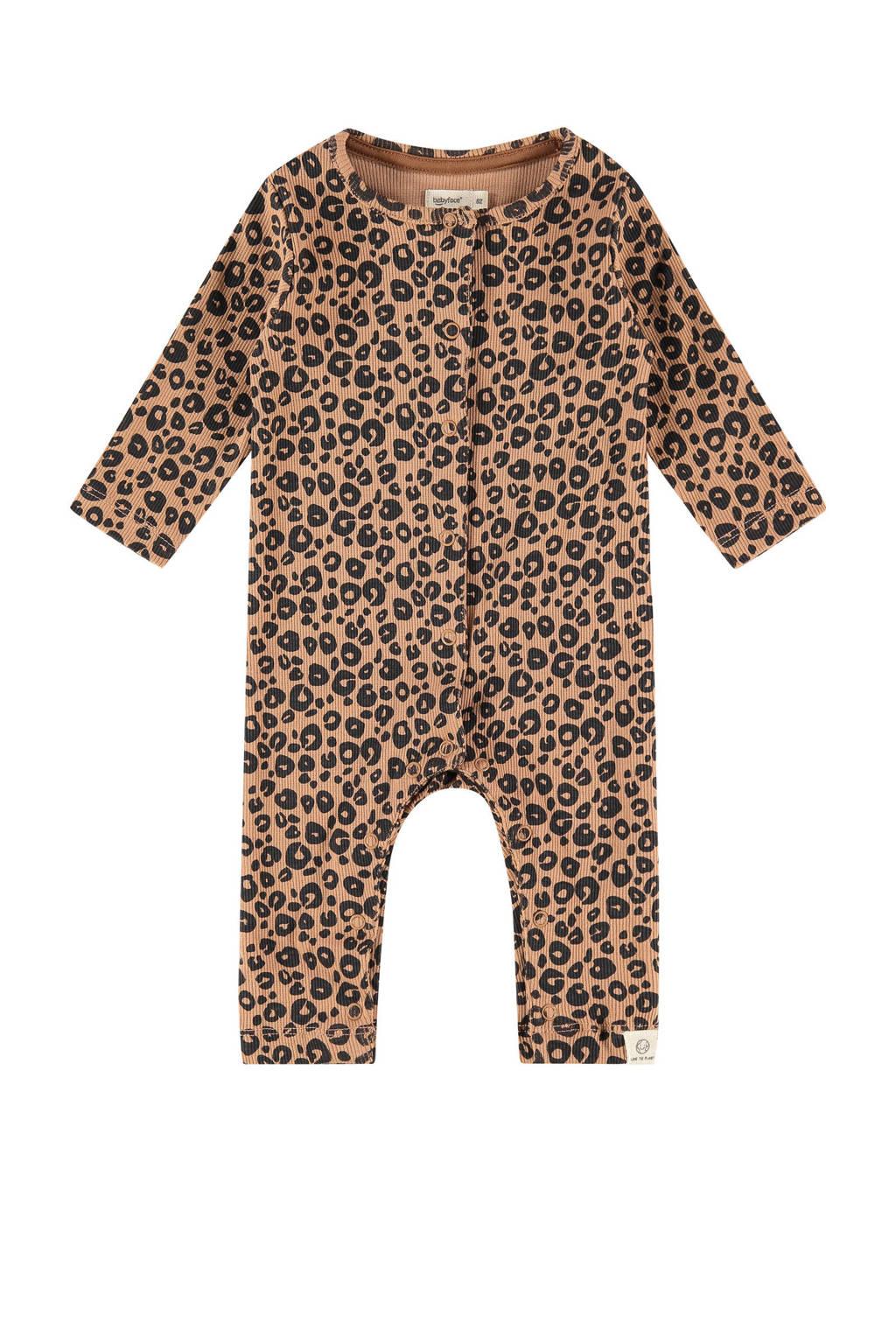 Babyface baby boxpak met all over print bruin/zwart, Bruin/zwart