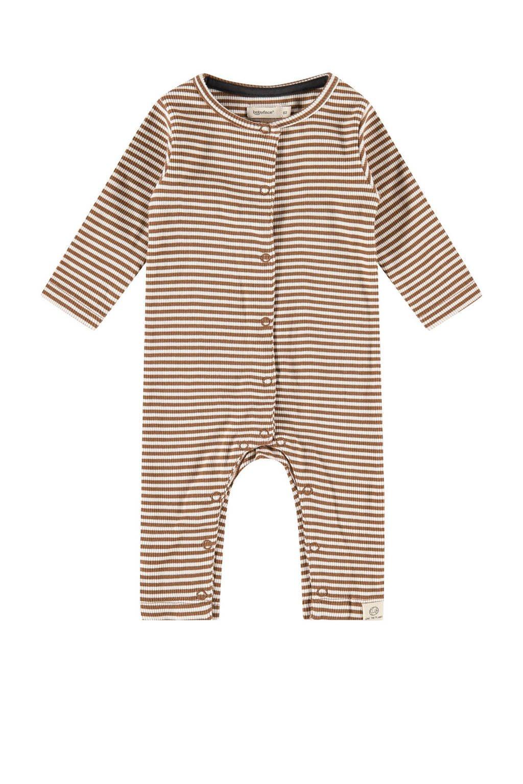 Babyface baby gestreept boxpak bruin/ecru, Bruin/ecru