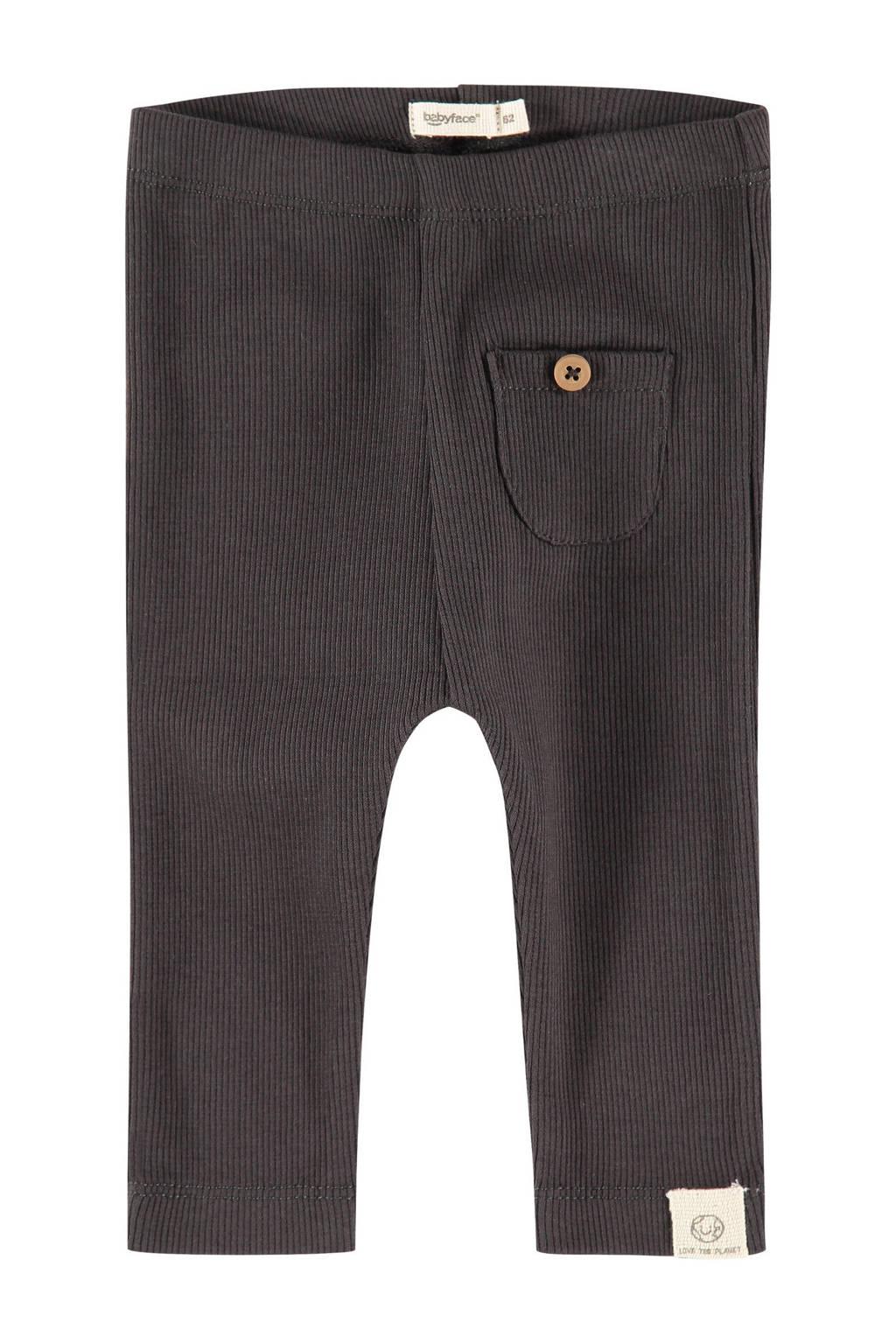 Babyface baby regular fit broek Unisex Trousers antraciet, Antraciet