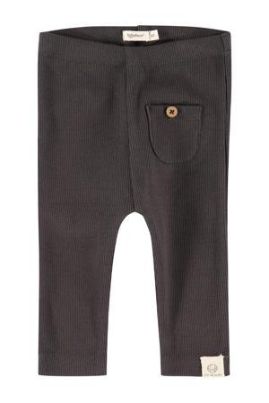 baby regular fit broek Unisex Trousers antraciet