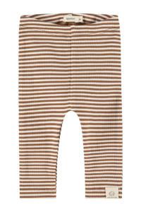 Babyface baby gestreepte regular fit broek Unisex Trousers bruin/ecru, Bruin/ecru