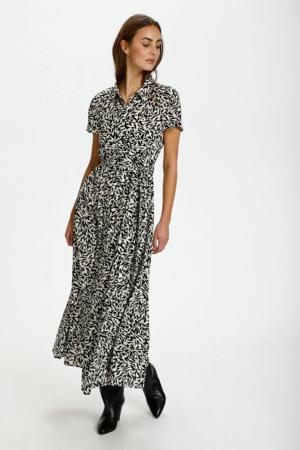 blousejurk Arjana met all over print gebroken wit/ zwart