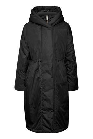 gewatteerde jas Montreal zwart