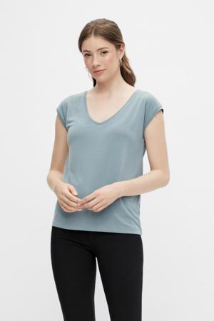 T-shirt PCKAMALA blauw