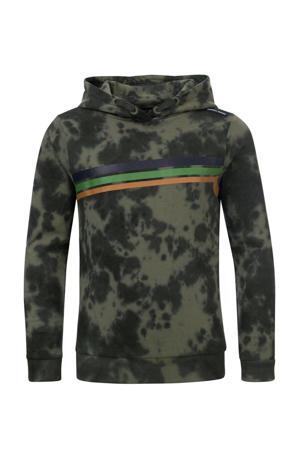 tie-dye hoodie Stefan legergroen