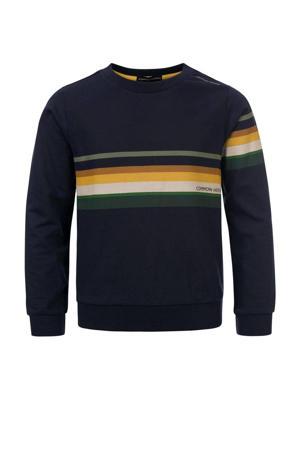 sweater Cas met printopdruk donkerblauw