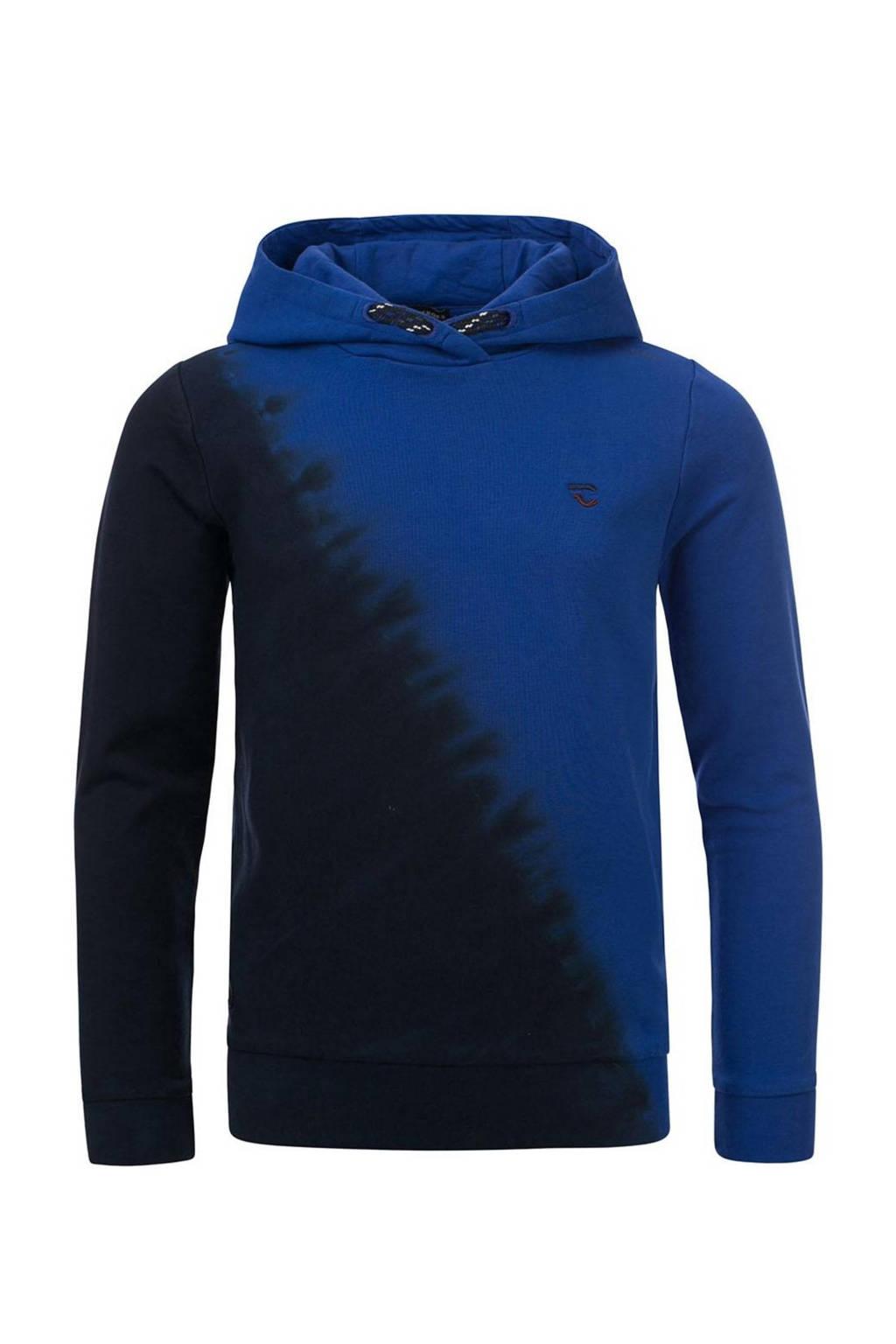 COMMON HEROES dip-dye hoodie Stefan blauw/zwart, Blauw/zwart