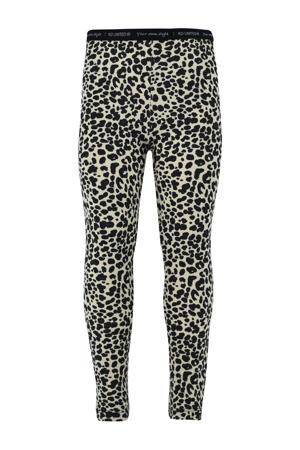 legging Chanel met panterprint zwart/beige