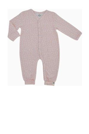 newborn baby boxpak met biologisch katoen roze/wit