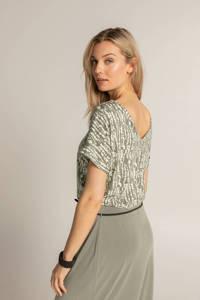 Expresso T-shirt met all over print lichtgroen/wit, Lichtgroen/wit
