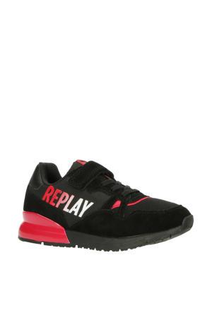 Blazen  sneakers zwart/rood