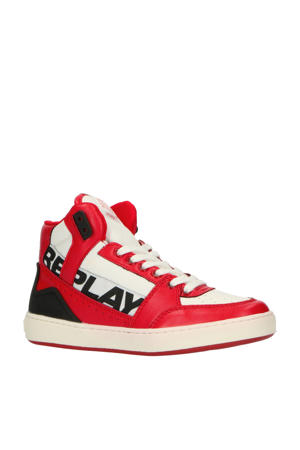 Campos  hoge sneakers rood/wit