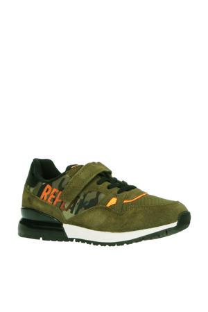 Blazen  sneakers met camouflageprint groen
